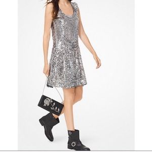 NWT Michael Kors Sequined Mini Slip Dress